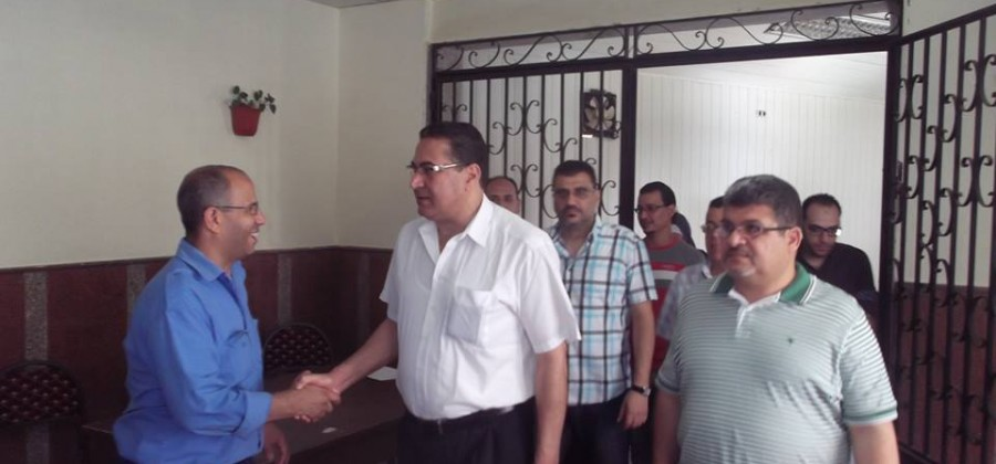 Mr. Dean of the Faculty of Medicine and Mr. Director General of Mansoura University Hospitals and Clinics inspecting sections of the hospital